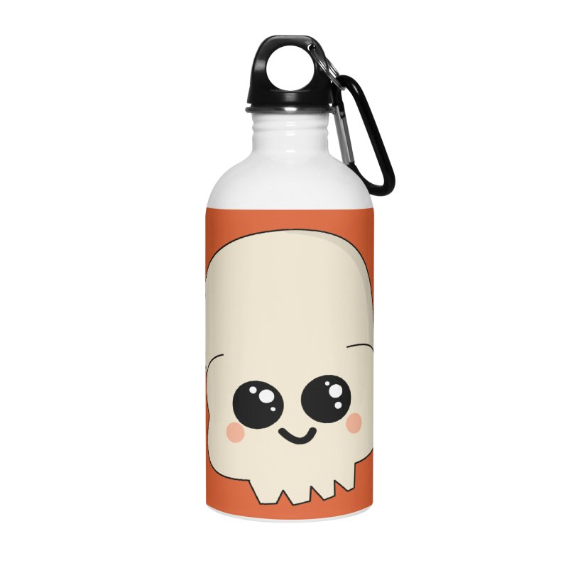 Skull Accessories Water Bottle by theladyernestember's Artist Shop