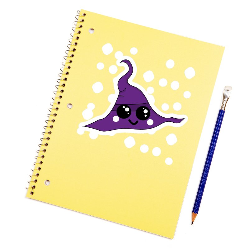Witches' hat Accessories Sticker by theladyernestember's Artist Shop
