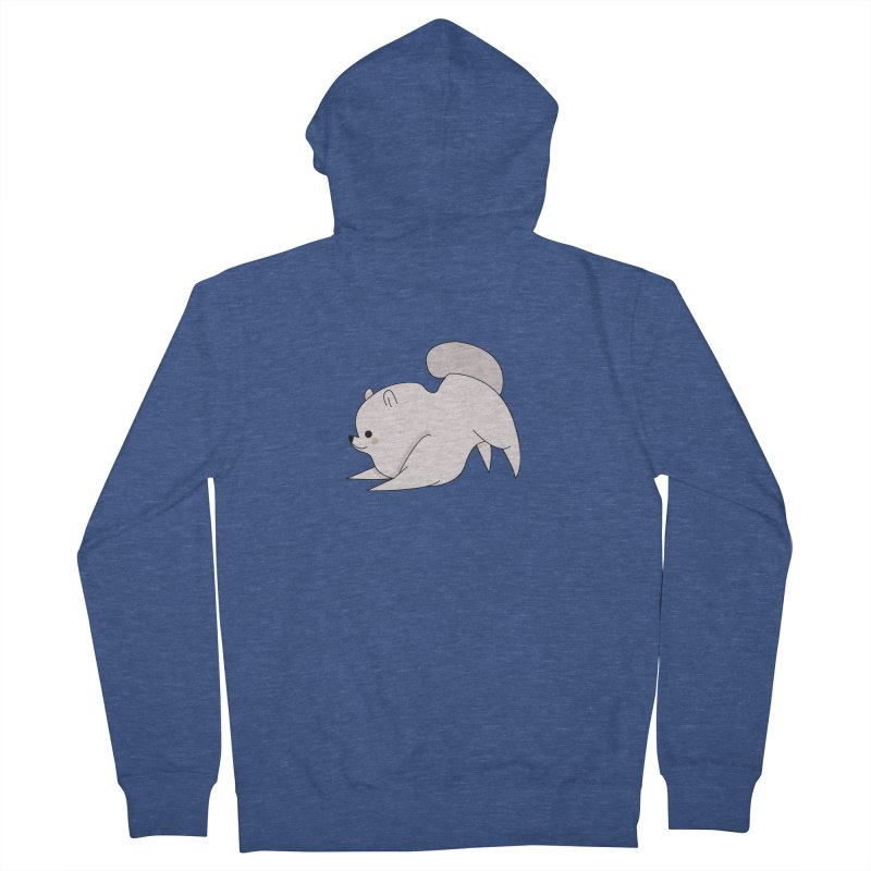 Puppy Men's French Terry Zip-Up Hoody by theladyernestember's Artist Shop