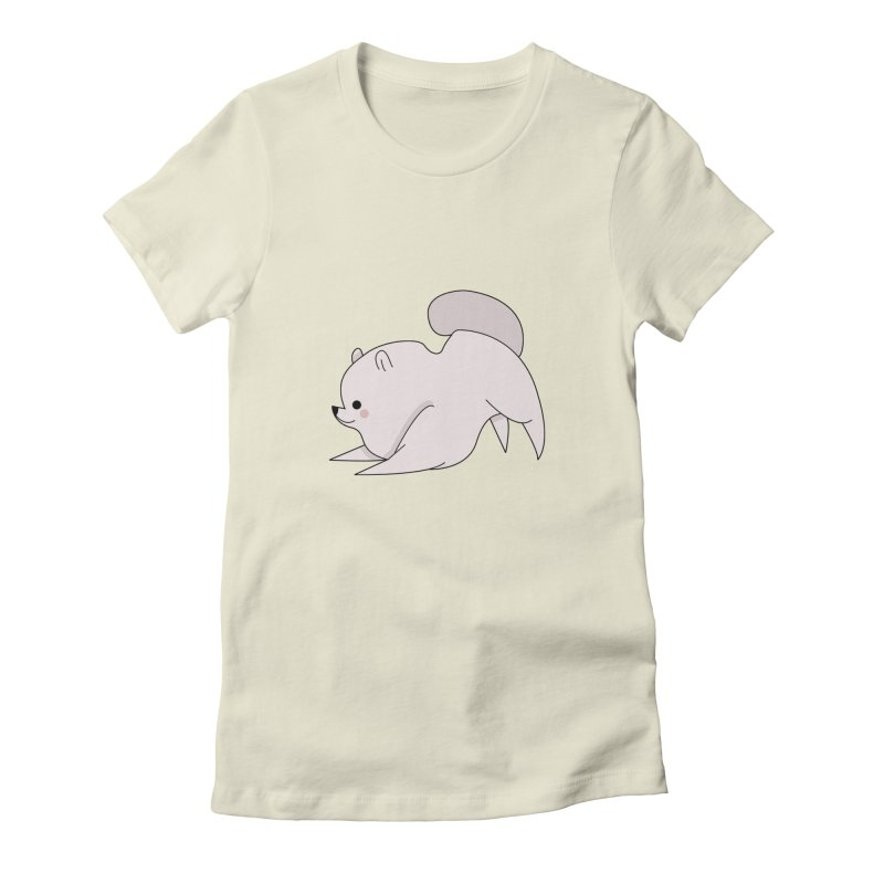 Puppy Women's Fitted T-Shirt by theladyernestember's Artist Shop
