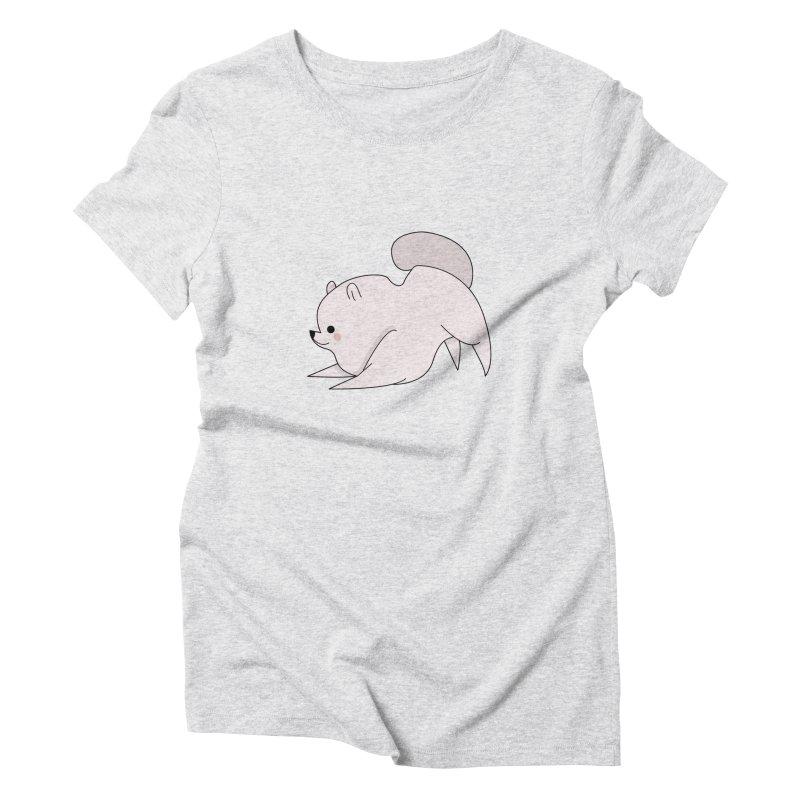 Puppy Women's Triblend T-Shirt by theladyernestember's Artist Shop