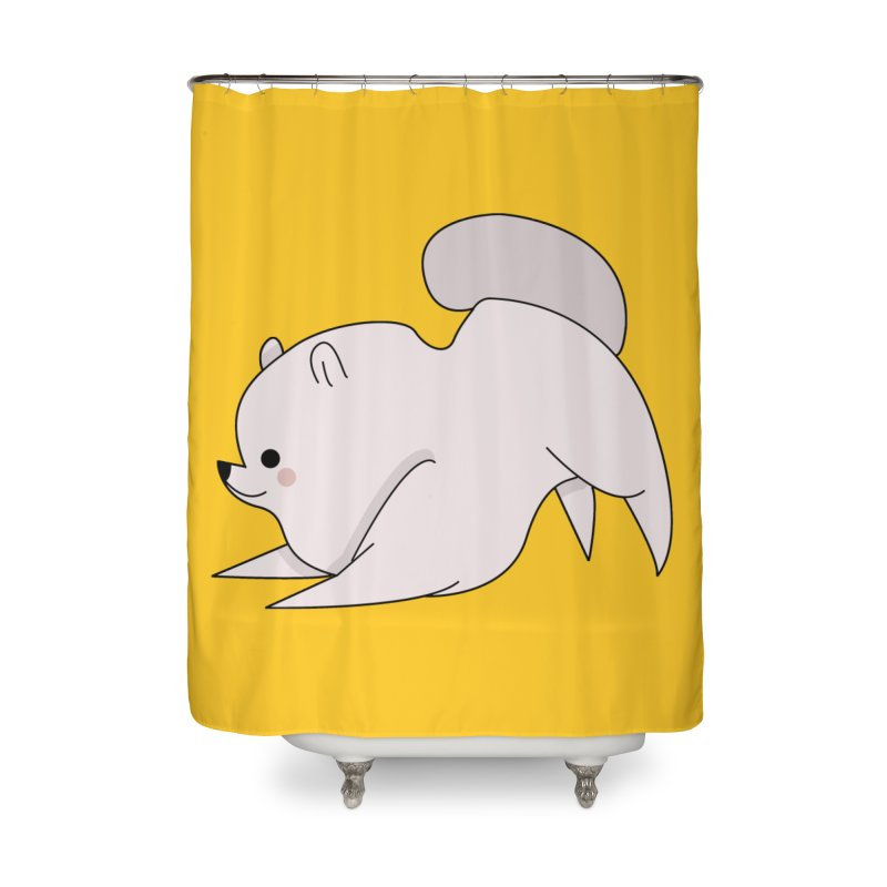 Puppy Home Shower Curtain by theladyernestember's Artist Shop
