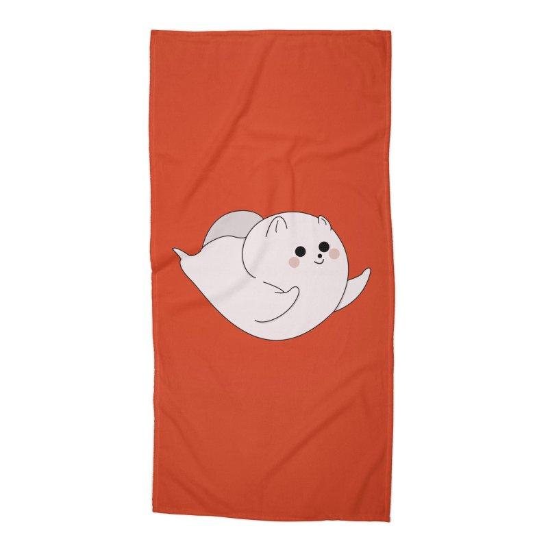 Puppy Accessories Beach Towel by theladyernestember's Artist Shop