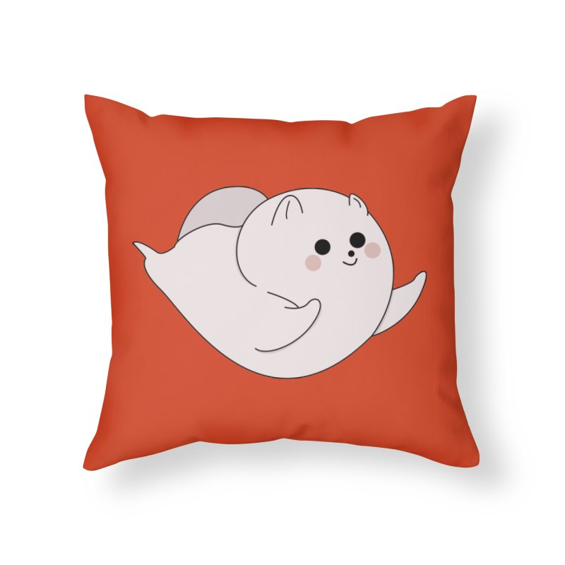 Puppy Home Throw Pillow by theladyernestember's Artist Shop