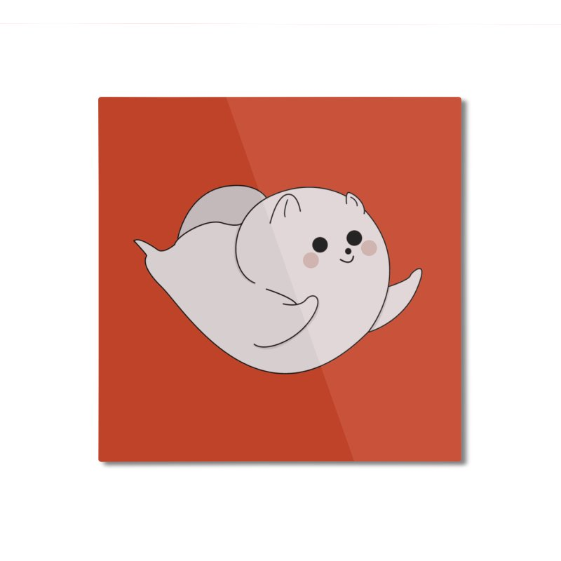 Puppy Home Mounted Aluminum Print by theladyernestember's Artist Shop
