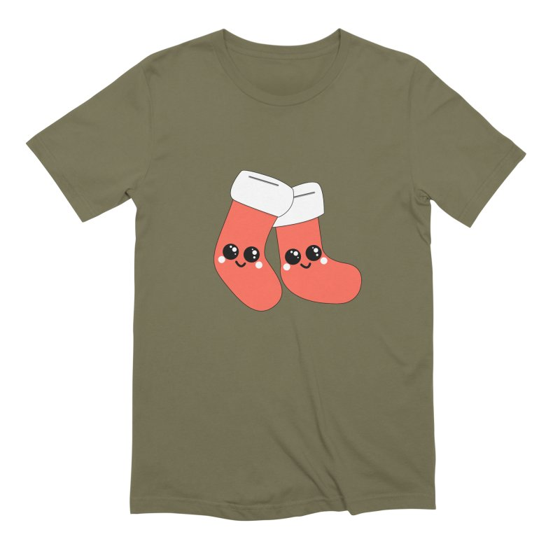 Christmas Stocking Men's T-Shirt by theladyernestember's Artist Shop