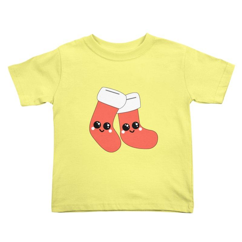 Christmas Stocking Kids Toddler T-Shirt by theladyernestember's Artist Shop