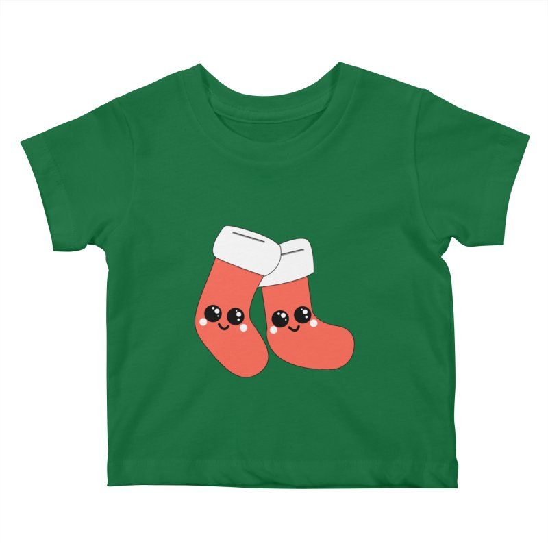 Christmas Stocking Kids Baby T-Shirt by theladyernestember's Artist Shop