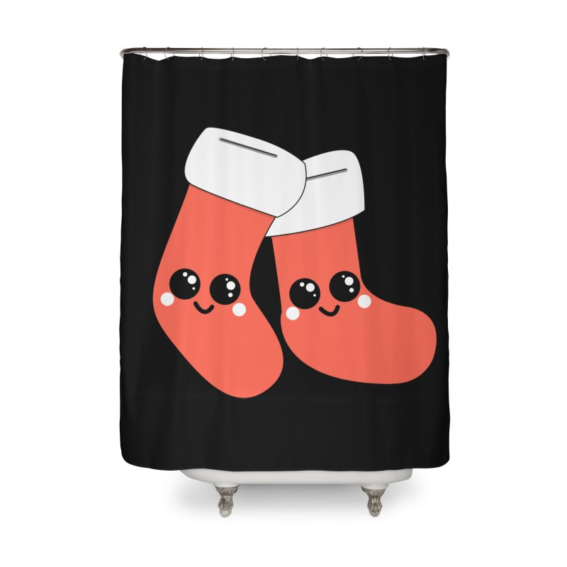 Christmas Stocking Home Shower Curtain by theladyernestember's Artist Shop