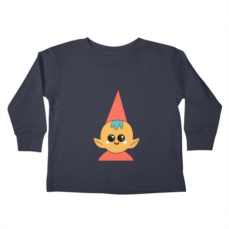 Christmas Elf Kids Toddler Longsleeve T-Shirt by theladyernestember's Artist Shop