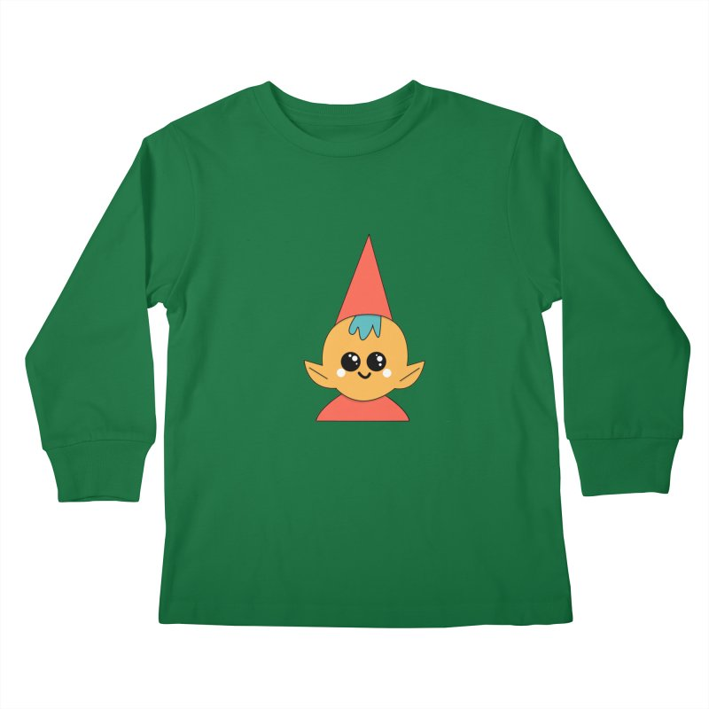Christmas Elf Kids Longsleeve T-Shirt by theladyernestember's Artist Shop