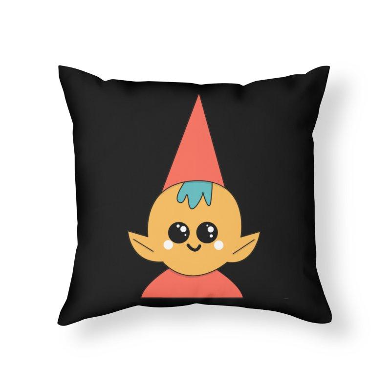 Christmas Elf Home Throw Pillow by theladyernestember's Artist Shop