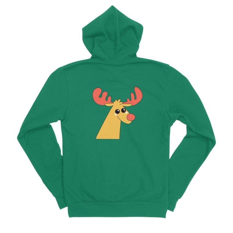 Christmas Moose Women's Sponge Fleece Zip-Up Hoody by theladyernestember's Artist Shop