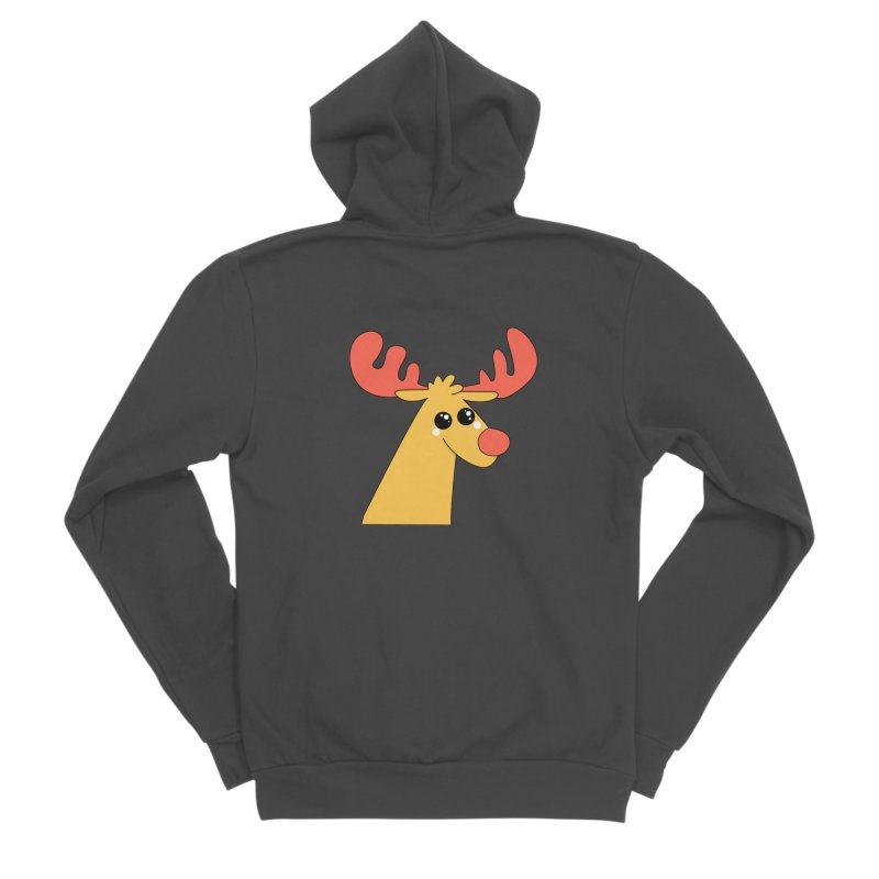 Christmas Moose Men's Sponge Fleece Zip-Up Hoody by theladyernestember's Artist Shop