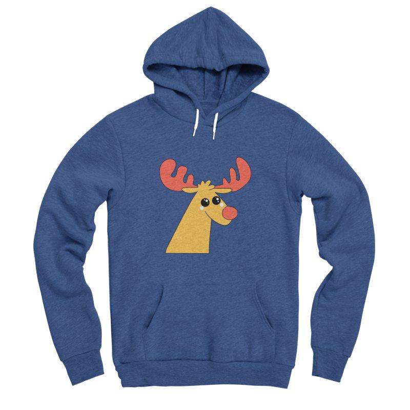 Christmas Moose Men's Sponge Fleece Pullover Hoody by theladyernestember's Artist Shop