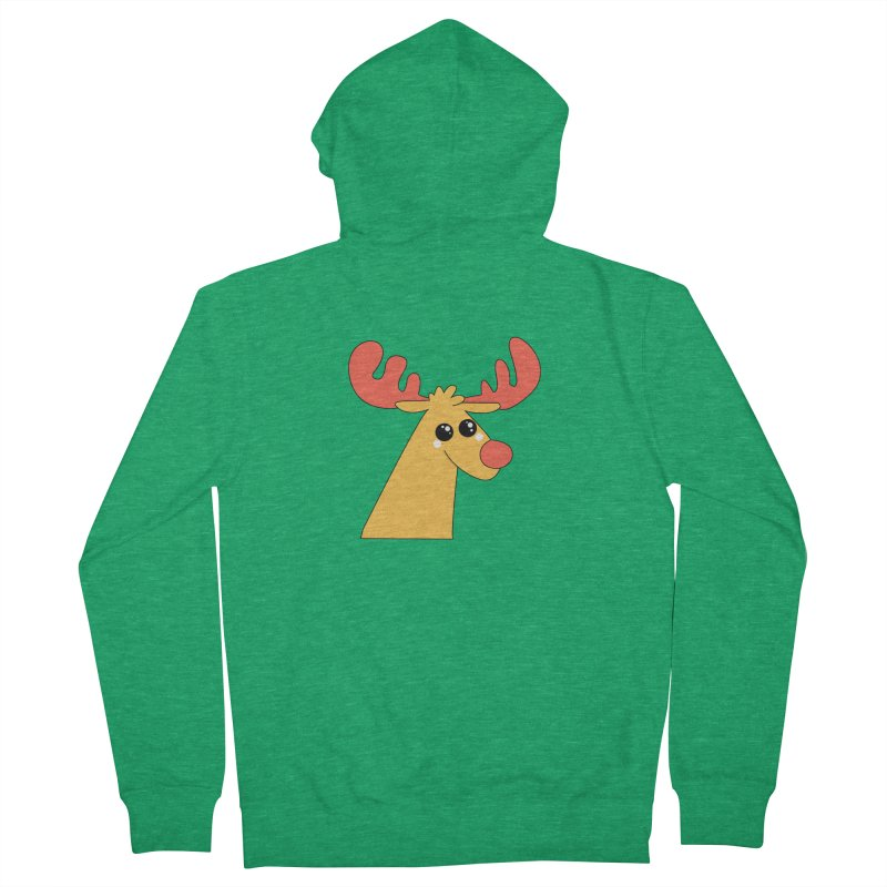 Christmas Moose Women's French Terry Zip-Up Hoody by theladyernestember's Artist Shop