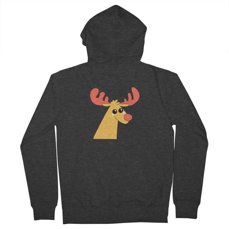 Christmas Moose Men's French Terry Zip-Up Hoody by theladyernestember's Artist Shop