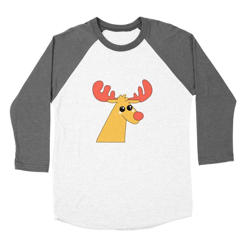 Christmas Moose Women's Baseball Triblend Longsleeve T-Shirt by theladyernestember's Artist Shop