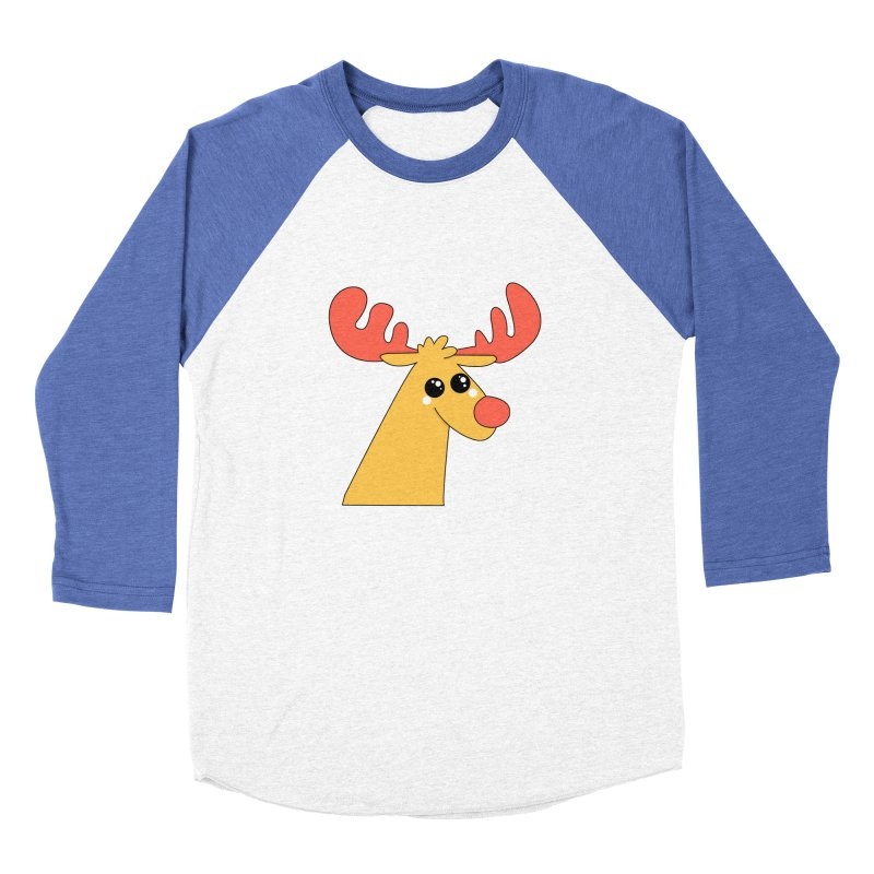 Christmas Moose Men's Baseball Triblend Longsleeve T-Shirt by theladyernestember's Artist Shop