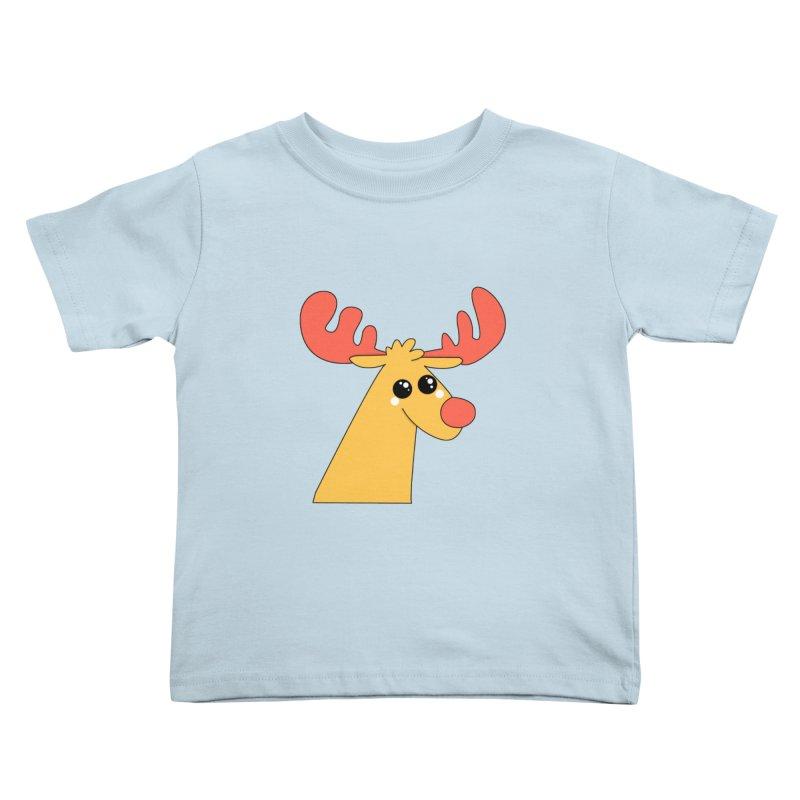 Christmas Moose Kids Toddler T-Shirt by theladyernestember's Artist Shop