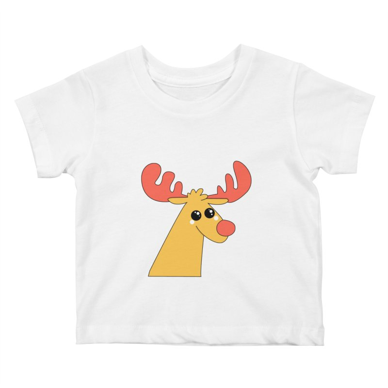 Christmas Moose Kids Baby T-Shirt by theladyernestember's Artist Shop