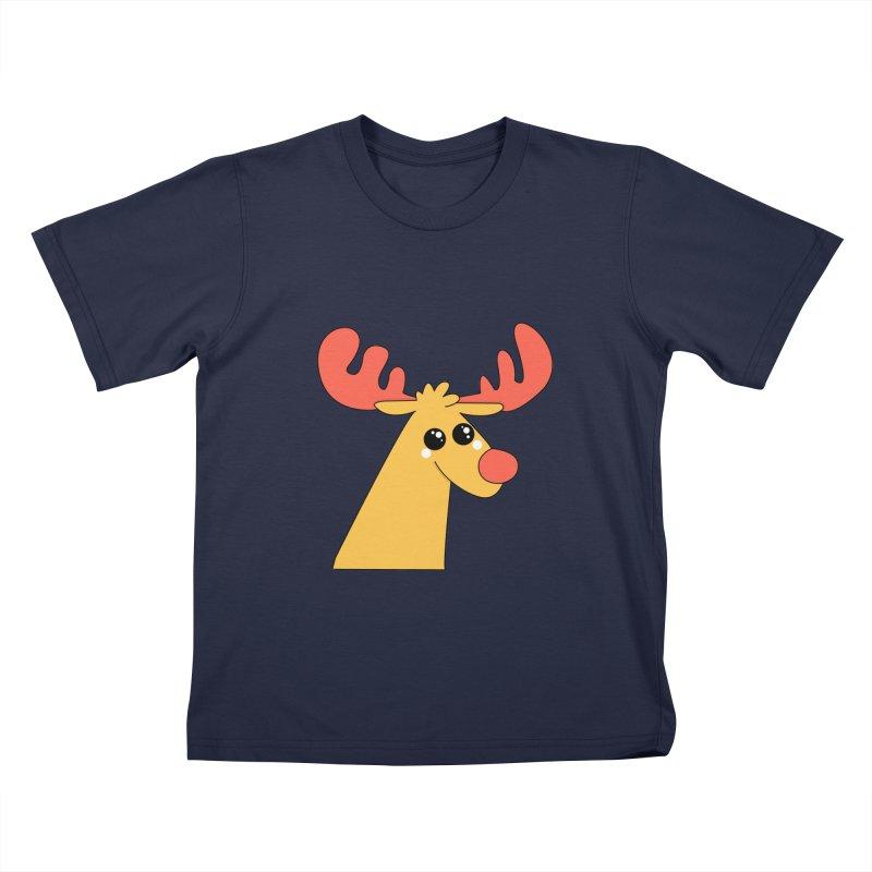 Christmas Moose Kids T-Shirt by theladyernestember's Artist Shop