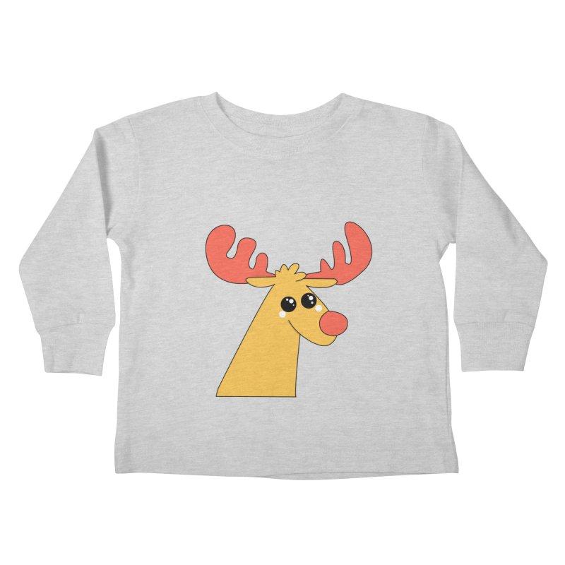 Christmas Moose Kids Toddler Longsleeve T-Shirt by theladyernestember's Artist Shop