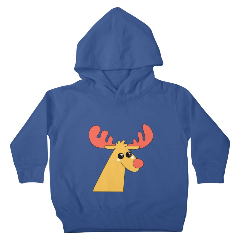 Christmas Moose Kids Toddler Pullover Hoody by theladyernestember's Artist Shop
