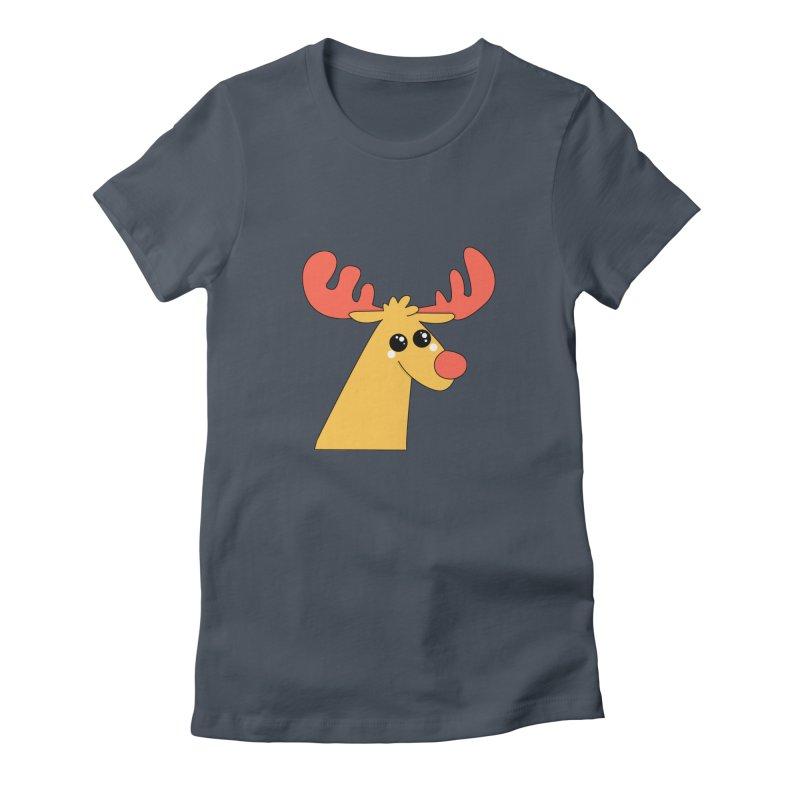Christmas Moose Women's T-Shirt by theladyernestember's Artist Shop