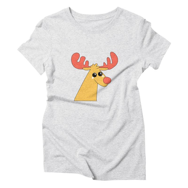 Christmas Moose Women's Triblend T-Shirt by theladyernestember's Artist Shop