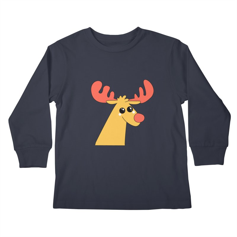 Christmas Moose Kids Longsleeve T-Shirt by theladyernestember's Artist Shop