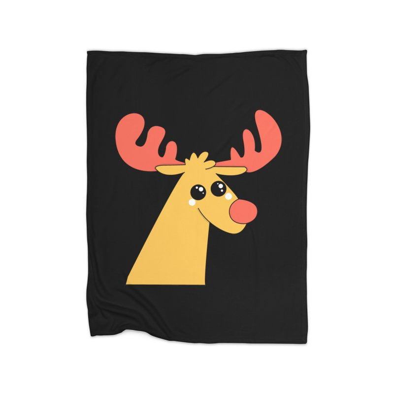 Christmas Moose Home Blanket by theladyernestember's Artist Shop