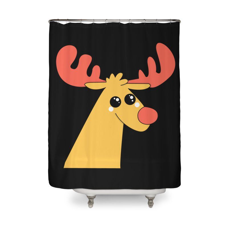 Christmas Moose Home Shower Curtain by theladyernestember's Artist Shop