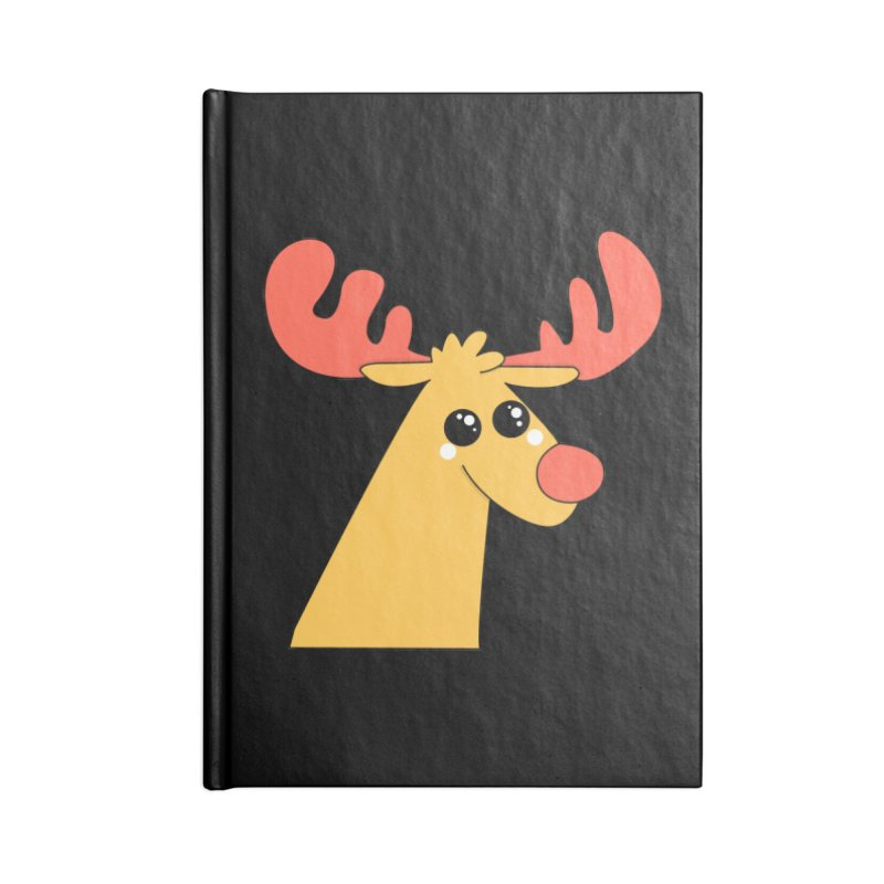 Christmas Moose Accessories Notebook by theladyernestember's Artist Shop