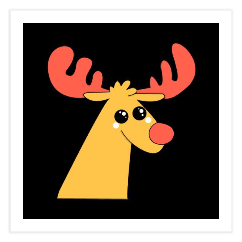 Christmas Moose Home Fine Art Print by theladyernestember's Artist Shop