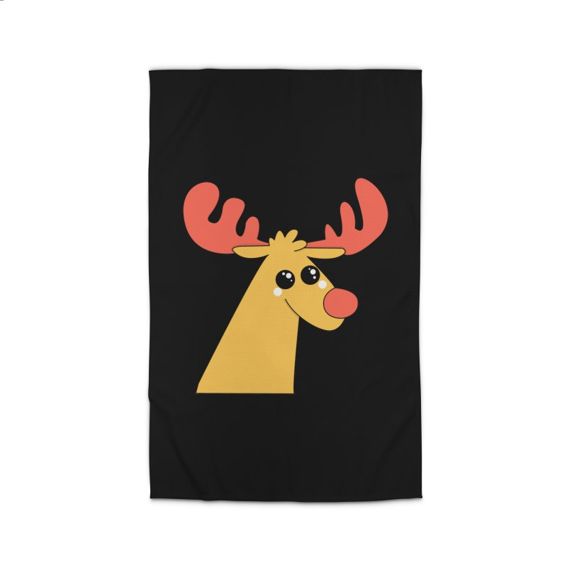 Christmas Moose Home Rug by theladyernestember's Artist Shop