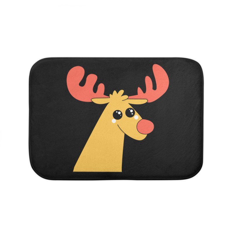 Christmas Moose Home Bath Mat by theladyernestember's Artist Shop