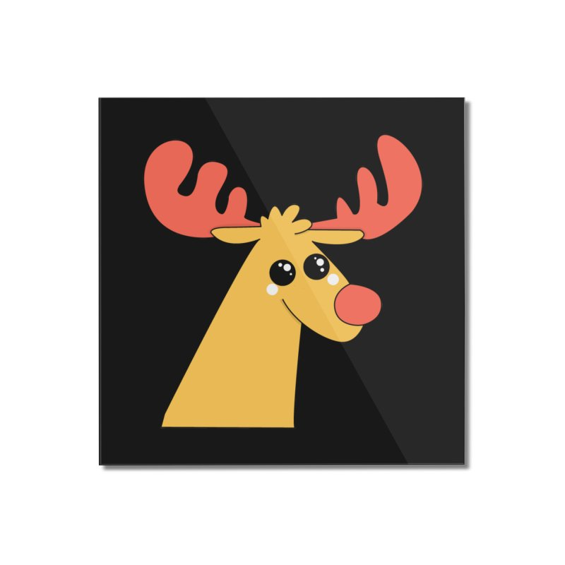 Christmas Moose Home Mounted Acrylic Print by theladyernestember's Artist Shop