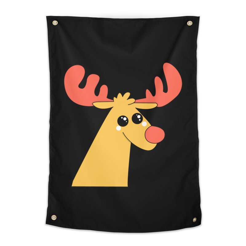 Christmas Moose Home Tapestry by theladyernestember's Artist Shop