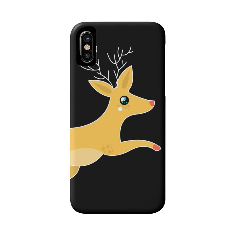 Christmas Reindeer Accessories Phone Case by theladyernestember's Artist Shop