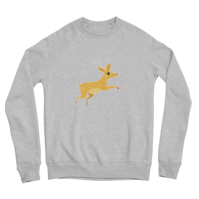 Christmas Reindeer Women's Sponge Fleece Sweatshirt by theladyernestember's Artist Shop