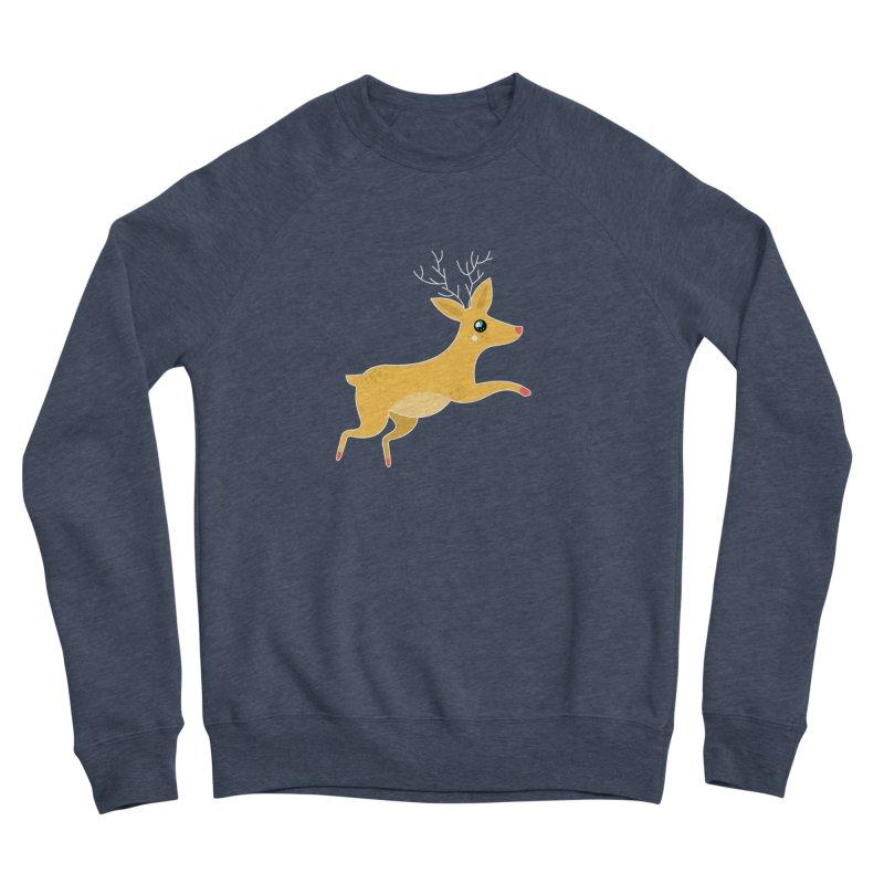 Christmas Reindeer Men's Sponge Fleece Sweatshirt by theladyernestember's Artist Shop