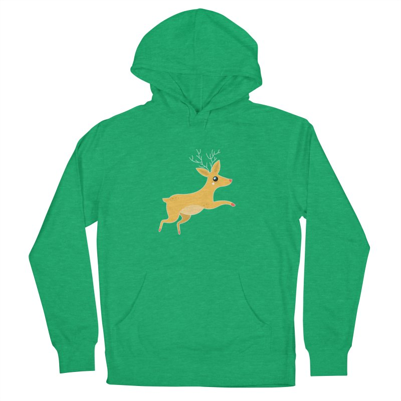 Christmas Reindeer Women's French Terry Pullover Hoody by theladyernestember's Artist Shop