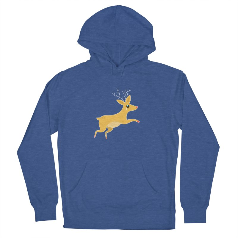 Christmas Reindeer Men's French Terry Pullover Hoody by theladyernestember's Artist Shop