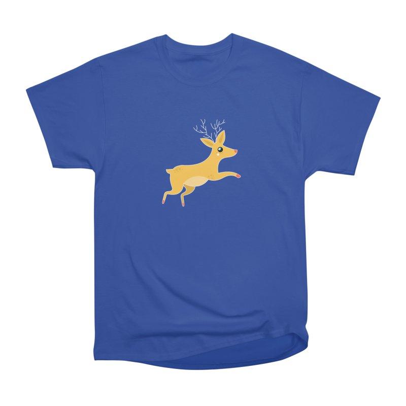 Christmas Reindeer Women's Heavyweight Unisex T-Shirt by theladyernestember's Artist Shop