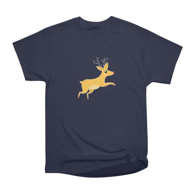 Christmas Reindeer Men's Heavyweight T-Shirt by theladyernestember's Artist Shop