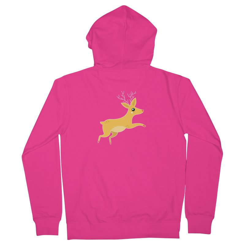 Christmas Reindeer Men's French Terry Zip-Up Hoody by theladyernestember's Artist Shop