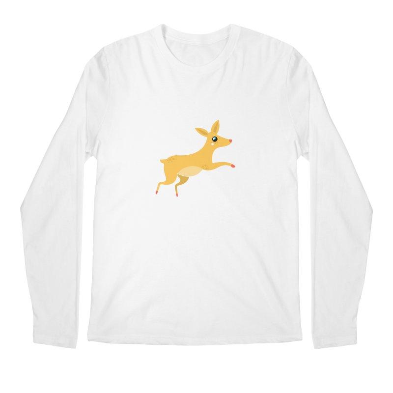 Christmas Reindeer Men's Regular Longsleeve T-Shirt by theladyernestember's Artist Shop