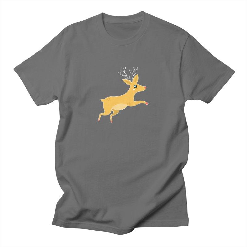 Christmas Reindeer Men's T-Shirt by theladyernestember's Artist Shop