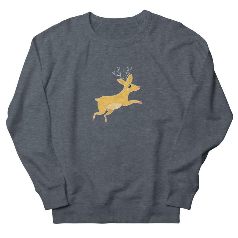 Christmas Reindeer Women's French Terry Sweatshirt by theladyernestember's Artist Shop
